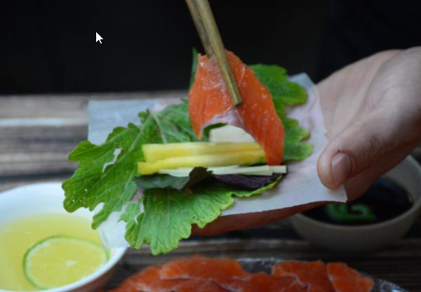 Cách làm gỏi cá hồi ngon tại nhà cực đơn giản - 6
