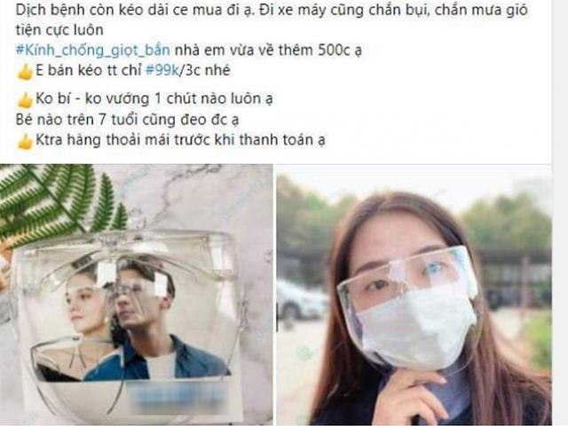 Dịch bùng mạnh, chị em bán hàng online lập tức bắt trend bán kính chắn giọt bắn