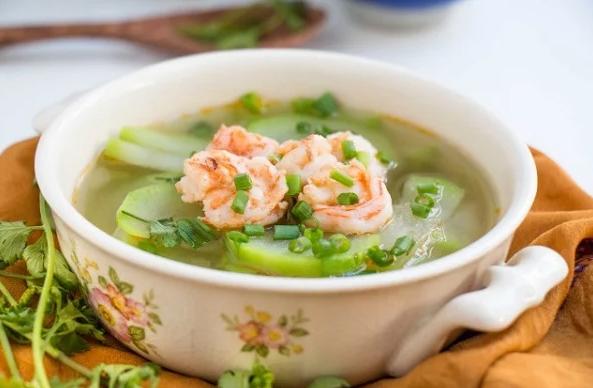 2 cách làm canh bầu nấu tôm ngon, ngọt nước dễ nấu - 5