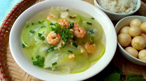 2 cách làm canh bầu nấu tôm ngon, ngọt nước dễ nấu - 6