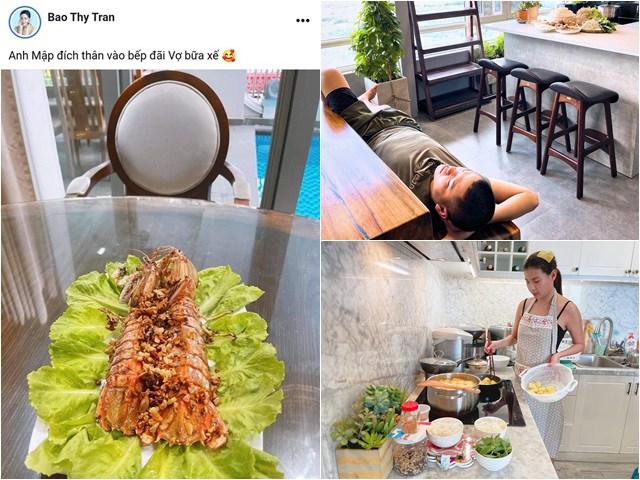 Sài Gòn giãn cách: Lê Phương, Bảo Thy được chồng phục vụ, Lan Khuê nấu 3 bữa tắm 4 lần