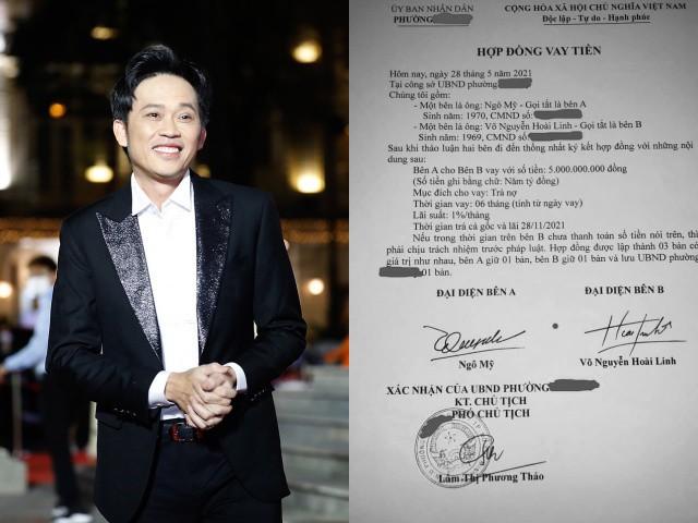 Xôn xao hợp đồng NS Hoài Linh vay 5 tỷ để trả nợ, chủ tịch Phường nói gì?