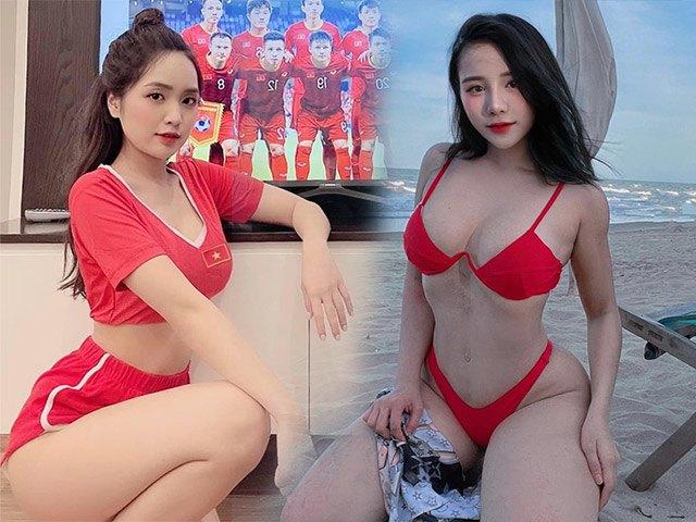Dàn mỹ nữ cổ vũ ĐT Việt Nam có Hoa Hậu nhưng diện kiệm vải nhất là cô gái này