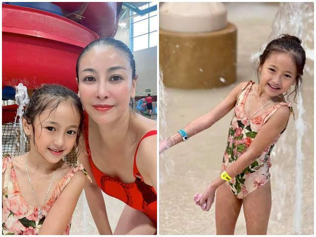 Âm thầm theo mẹ xuất ngoại giữa dịch, con gái Hà Kiều Anh xinh nổi bật trên đất Mỹ