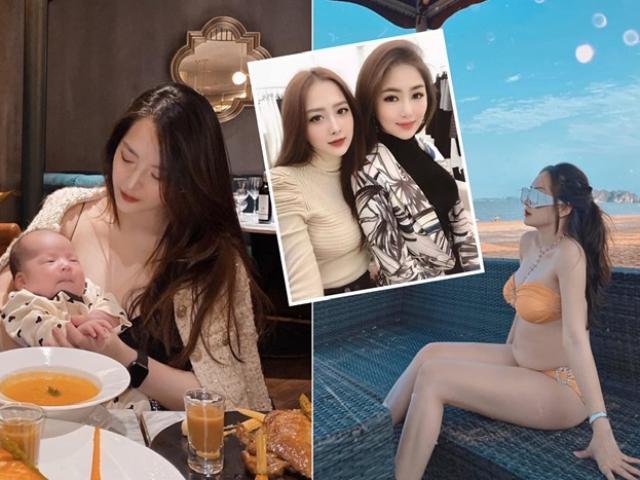 Hương Tràm có cô em họ nổi tiếng Hà Tĩnh, làm mẹ một con xinh đẹp sang chảnh, chồng chiều