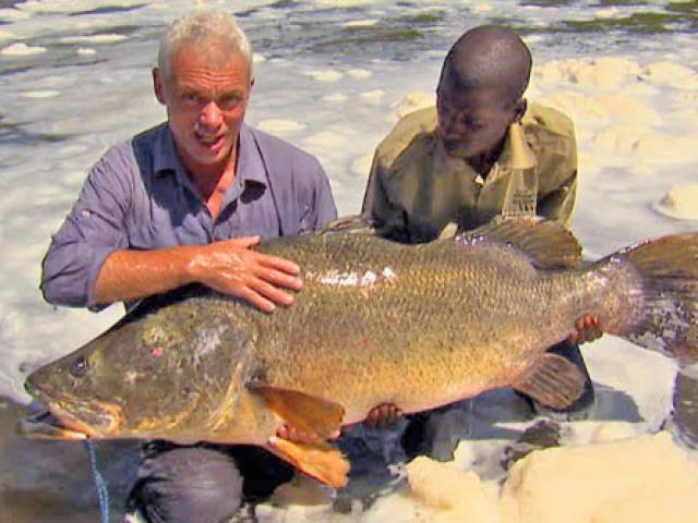 Siêu cần thủ câu được cá rô nặng 45kg trên sông Nile