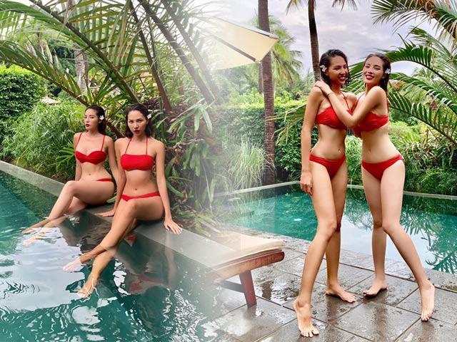 Đến bikini mà Kỳ Duyên cùng phải diện có đôi có cặp với người yêu tin đồn
