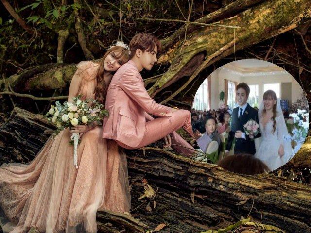 Rò rỉ hình ảnh cho thấy Thu Thủy đã bí mật làm đám cưới với tình trẻ kém 10 tuổi