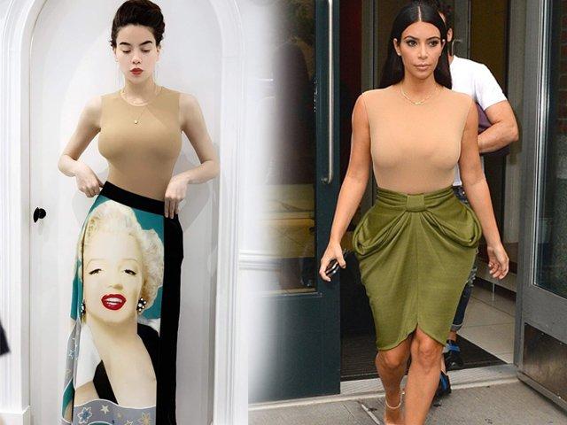 Khi Hà Hồ diện bodysuit đụng độ Kim Kardashian, ai hơn ai?