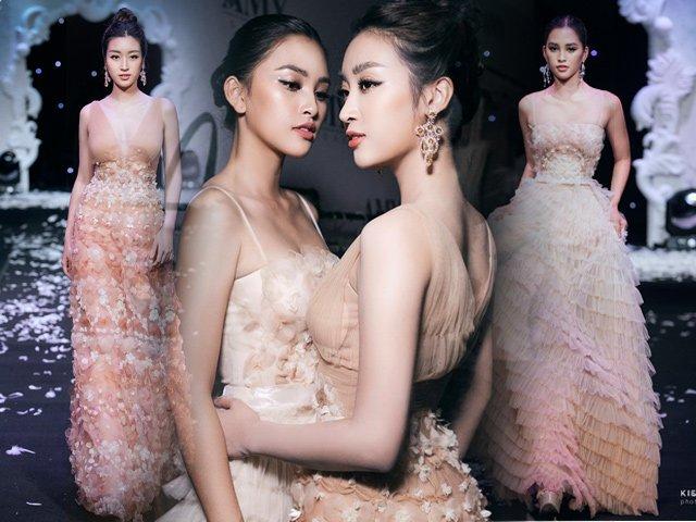 Hoa hậu Đỗ Mỹ Linh, Tiểu Vy xinh đẹp như tiên nữ sải bước kiêu hãnh khi làm Vedette