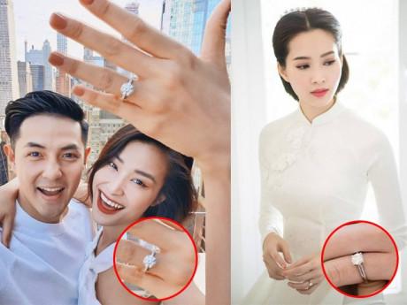 """""""Đọ"""" kim cương khủng trên nhẫn đính hôn của mỹ nhân Việt, Đông Nhi có đang dẫn đầu?"""