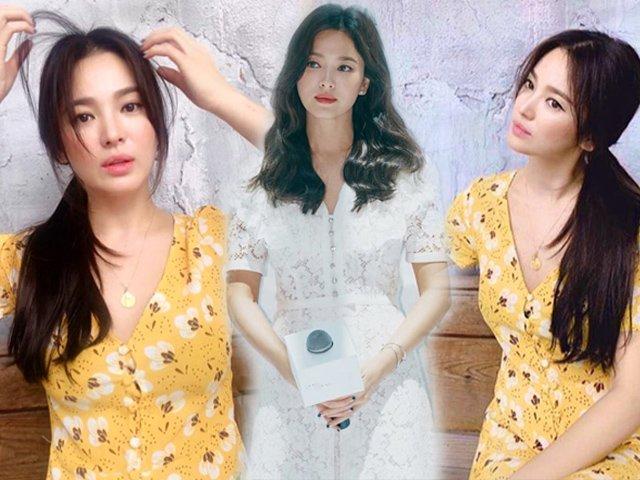 Kiểu trang điểm phụ nữ độc thân quyến rũ của Song Hye Kyo được khen hết lời