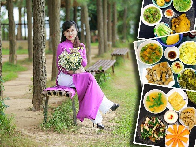 Những mâm cơm 4 người đủ món khiến chị em tưởng mẹ đảm Hà Nội chỉ ở nhà nấu ăn
