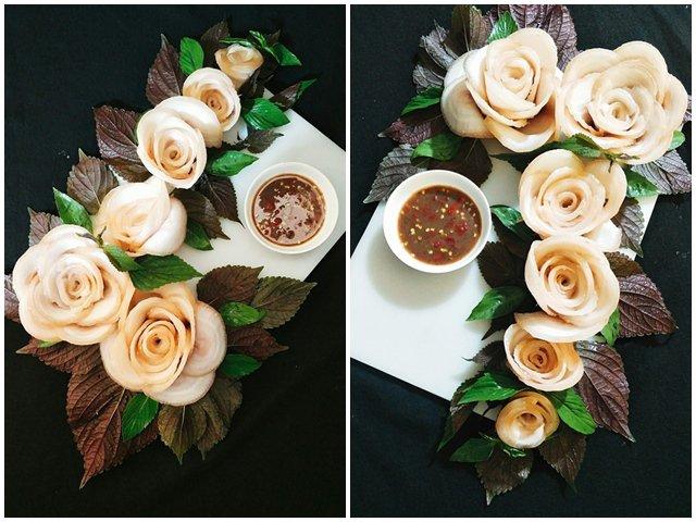Mẹ đảm Sài Gòn xếp thịt ba chỉ luộc đẹp như vườn hoa, hàng nghìn chị em xin cách làm