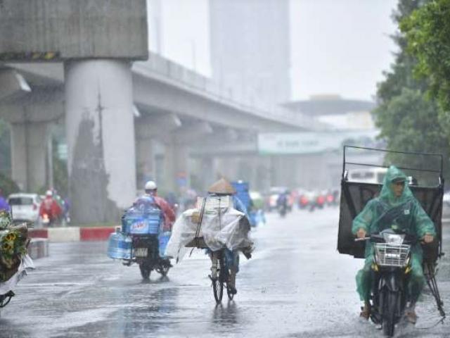 Cơn bão số 3 suy yếu, Bắc Bộ và Bắc Trung Bộ tiếp tục có mưa lớn diện rộng