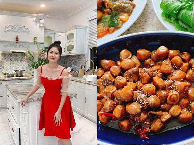 Lộ bếp sang xịn như mơ, càng hiểu lý do cả Đăng Khôi và vợ khoái nấu ăn đến vậy