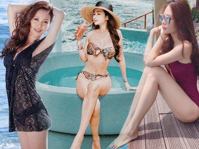 Khi vợ các ông chồng đại gia khoe dáng với bikini, Đàm Thu Trang vẫn xếp sau mỹ nhân này