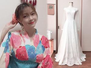 Cô dâu Việt ở Nhật trổ tài tự may váy cưới, thành quả khiến ai cũng phải kinh ngạc