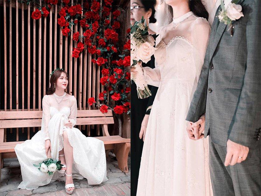 Cô dâu Việt ở Nhật trổ tài tự may váy cưới, thành quả khiến ai cũng phải kinh ngạc - 4