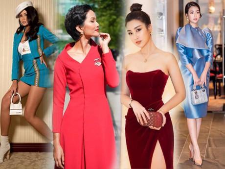 Thoát mác Hoa hậu nghèo nhất Việt Nam, Mỹ Linh và H'Hen Niê ngày càng chăm diện hàng hiệu