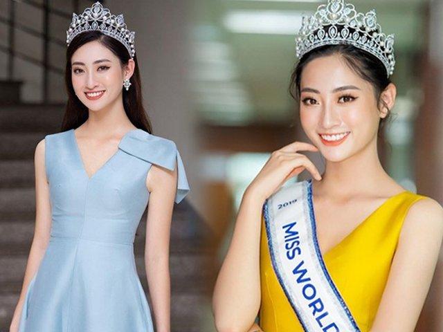 Ngày ngày để tóc thẳng tung bay, Hoa hậu Thuỳ Linh vừa búi tóc liền xinh hết phần thiên hạ