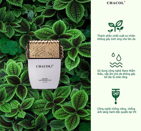 Review kem dưỡng da chống nắng - chống ánh sáng xanh Chacol