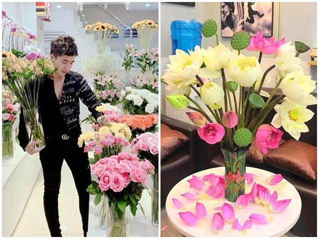 Ông chủ 9X chi 10 triệu/tháng mua hoa về bày, chị em kêu trời đẹp hơn con gái cắm