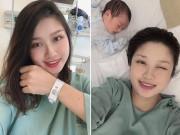 9X Hà Nội đi đẻ xinh như Hoa hậu, con trai chào đời nổi tiếng cả khoa sản