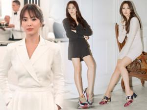 Kín đáo chưa được bao lâu, Song Hye Kyo tiếp tục chuộng mốt đã ngắn nay còn ngắn hơn