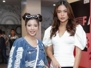 Nữ diễn viên có mái tóc Na Tra không ngại đọ dáng Á hậu cao 1m77 Mâu Thủy