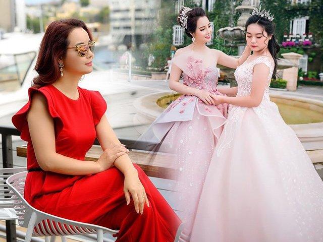 Cùng nhau diện váy lung linh, Mai Thu Huyền và con gái nhận lại cơn mưa lời khen