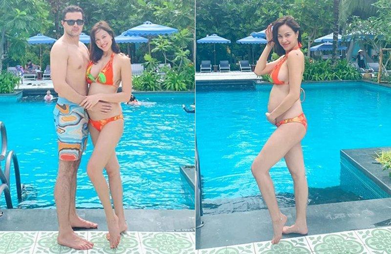 Phương Mai lên xe hoa với ông xã Ba Lan hồi tháng 6 vừa qua. Không lâu sau khi kết hôn, nữ MC vui mừng thông báo mình đang mang thai em bé đầu lòng. Hiện Phương Mai đang mang thai ở tháng thứ 7.