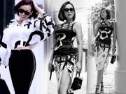 Thời trang - Diện váy xẻ cao khoe chân dài bất tận, người đẹp U40 khiến Mai Phương Thúy thốt lời khen ngợi