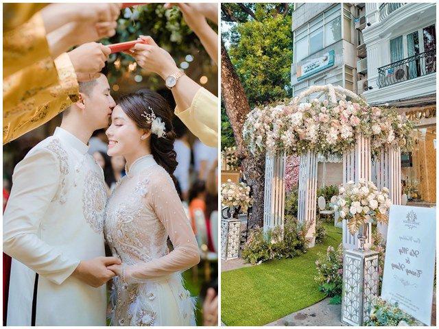 Giảng viên nóng bỏng nhất Vịnh Bắc Bộ bỏ cơ phó, lộng lẫy trong đám cưới dát vàng từ ngõ