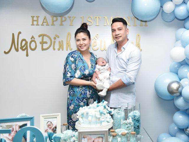 Thiếu ngủ sau sinh, Ngọc Hiền giảm được 12kg vào ngày đầy tháng con thứ 3