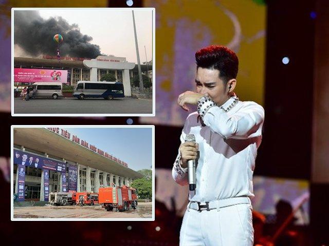Liveshow của ca sĩ Quang Hà bị hoãn do sân khấu Cung Văn hóa Hữu nghị Việt Xô bốc cháy