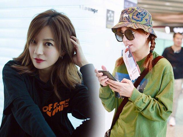 Để nguyên mặt mộc tới sân bay, Triệu Vy khiến dân tình ngưỡng mộ bởi trẻ trung hệt gái 20