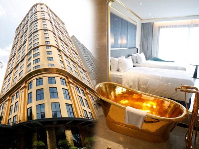 Cận cảnh khách sạn mạ vàng đầu tiên trên thế giới ở Việt Nam