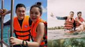 Quang Vinh, Phạm Quỳnh Anh bị chỉ trích vì ngồi lên san hô quay clip du lịch