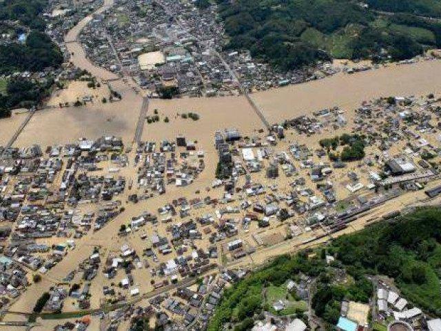 Lũ lụt nhấn chìm miền Nam Nhật Bản