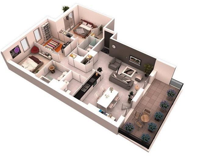 Mẫu nhà đẹp 2020 phổ biến với nhà cấp 4 và kiểu nhà tầng - 4