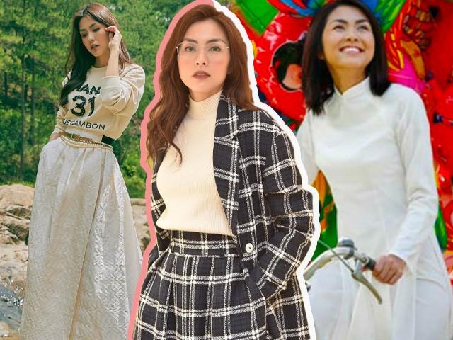 Nổi danh nhờ tà áo dài trắng, Hà Tăng giờ đây gắn liền thời trang tối giản nhưng đỉnh cao