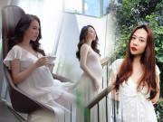 Bụng bầu lớn vượt mặt, bà xã Cường Đô La vẫn chỉ chuộng diện đồ trắng tinh khôi