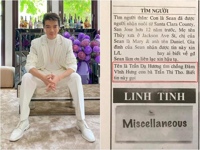 Sao Việt 24h: Đàm Vĩnh Hưng xuất hiện ở thông báo tuyển chồng, mẹ ruột cũng được nhắc đến