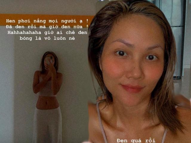 Bị chê vừa đen vừa xấu, HHen Niê quyết tâm tắm nắng cho đen thêm