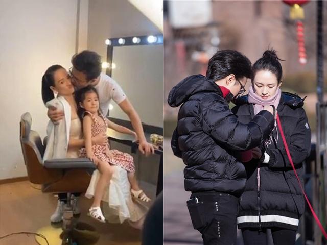 Ngay trước mặt con gái, chồng Chương Tử Di làm điều này với vợ khiến cô bé hoảng