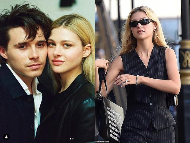 Con dâu đầu tiên của Beckham: Khoe nhẫn kim cương 10 tỷ đồng, đã bí mật tổ chức đám cưới?