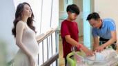 Đàm Thu Trang vừa mới sinh con gái, Cường Đô La đã khoe ảnh chăm ái nữ rất khéo