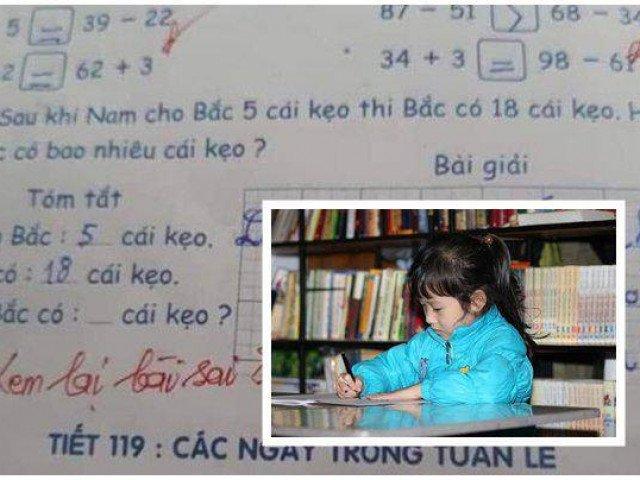 Học trò tính đúng bài toán nhưng cô giáo gạch thành sai, rốt cuộc ai mới là người mắc lỗi?