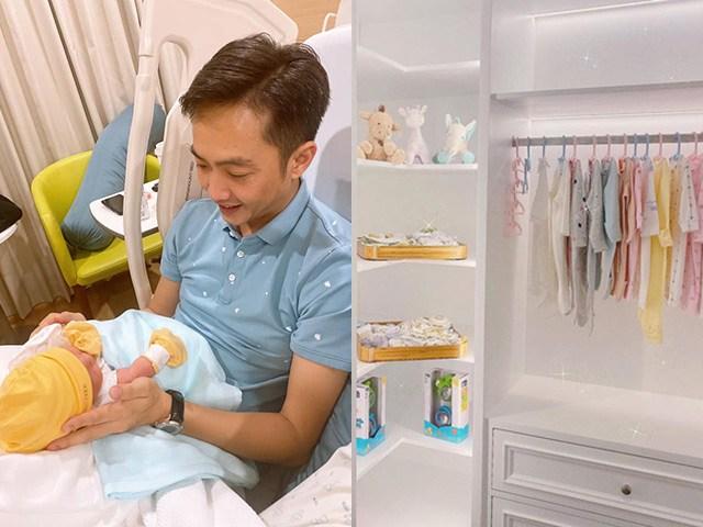 Bỏ mê siêu xe, Cường Đô-La thành bố mê con gái, làm tủ đồ sơ sinh như shop thời trang